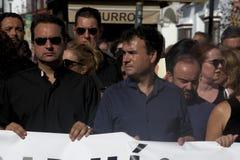 Demostration i vägnar av säkerheten i Carmona 104 royaltyfria bilder