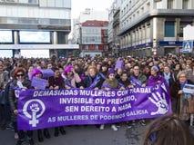 Demostration kvinnadag Royaltyfria Foton