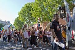 Demostration in Paris Stockfotografie