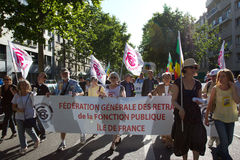 Demostration in Paris Stockbild