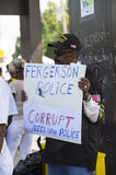 Demostrator with Sign in Ferguson Royalty Free Stock Image