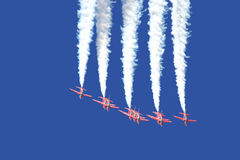 Demoteam. Air Force demoteam performing in a deep blue sky Royalty Free Stock Photos