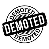 Demoted rubber stamp Stock Images