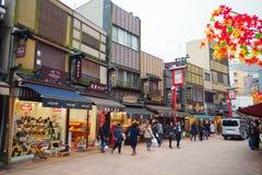 Dempoin Dori ulica w Asakusa Zdjęcia Stock