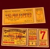 dempsey walki dźwigarki bilety Fotografia Royalty Free