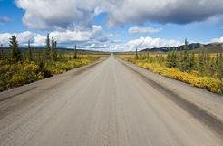 Dempster Datenbahn, Yukon lizenzfreies stockfoto