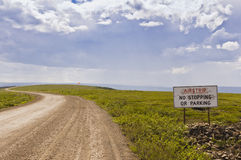 Dempster Highway airstrip Stock Photography