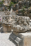 Demre, Lycia, Turkey. Columns, capitals in the ruins of Demre, Turkey Royalty Free Stock Photography