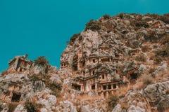 Demre - stad en district in de provincie van Antalya royalty-vrije stock foto's