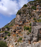 Demre, Turkey, Ancient rock-cut tombs in Myra Royalty Free Stock Photography