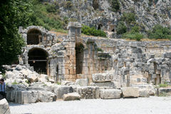 Demre, Turkey. Caves early hritsian in Turkey, Demre Royalty Free Stock Photography