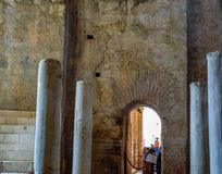 Altar of the Church of St. Nicholas the Baptist miracle worker in Demre, Turkey. Demre, Turkey - May 21, 2019: Altar of the Church of St. Nicholas the Baptist stock photos