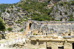 DEMRE, TURKEY - September 16, The ancient Greco- Stock Photography