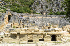 DEMRE, TURKEY - September 16, The ancient Greco- Stock Photos
