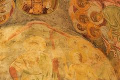 DEMRE, TURQUÍA - 13,07,2014 frescos en San Nicolás (Papá Noel Fotografía de archivo