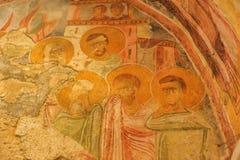 DEMRE, TURQUÍA - 13,07,2014 frescos en San Nicolás (Papá Noel Imágenes de archivo libres de regalías