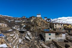 Free Demul Village - Landscape Of Spiti Valley, Himachal Pradesh, India / The Middle Land / Cold Desert Royalty Free Stock Image - 122331956