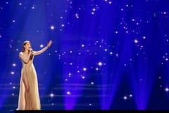 Demy από την Ελλάδα Eurovision 2017 στοκ εικόνα
