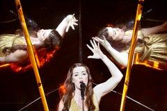 Demy de Grèce au concours de chanson d'Eurovision Photos libres de droits