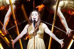 Demy de Grèce au concours de chanson d'Eurovision Photographie stock libre de droits