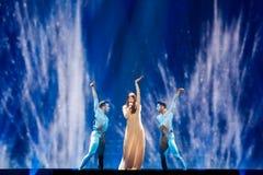 Demy från Grekland Eurovision 2017 arkivbilder
