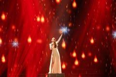 Demy från Grekland Eurovision 2017 arkivfoto