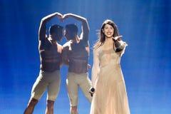 Demy från Grekland Eurovision 2017 arkivbild