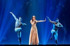 Demy från Grekland Eurovision 2017 royaltyfria bilder