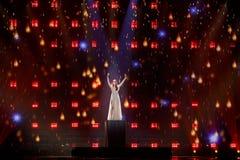 Demy från Grekland Eurovision 2017 royaltyfri foto