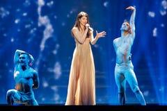 Demy från Grekland Eurovision 2017 royaltyfri bild