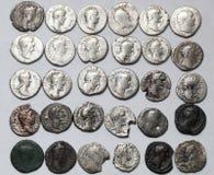 Denário romano Moedas esquisitos Imagem de Stock