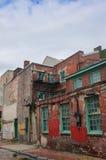 Den äldsta gatan i gränden för USA Elfreth'sen i Philadelphia i solljuset Royaltyfri Fotografi