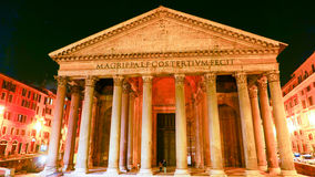 Den äldsta katolska kyrkan i Rome - panteon arkivfoton