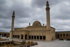 Den äldsta moskén i Kaukasuset och Mellanösten - den Shemakha Juma moskén byggdes i 743 och tillhör Shirvanen Archi royaltyfri foto