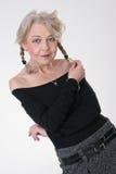 den älskvärda ladyen mature Fotografering för Bildbyråer
