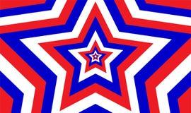Den ändlösa patriotiska stjärnan mönstrar vektor illustrationer
