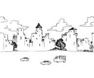 Den ändlösa staden Arkivfoton