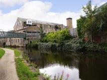 den 200 år berömmen av den Leeds Liverpool kanalen på Burnley Lancashire Arkivfoto