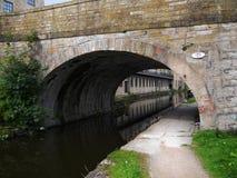 den 200 år berömmen av den Leeds Liverpool kanalen på Burnley Lancashire Royaltyfri Fotografi