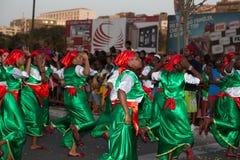 Den årliga karnevalet i huvudstaden i Kap Verde, Praia. Royaltyfria Foton