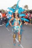 Den årliga karnevalet i huvudstaden i Kap Verde, Praia. Royaltyfria Bilder