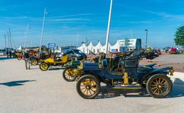 Den årliga nationella oldtimerdagen i Lelystad Royaltyfria Bilder
