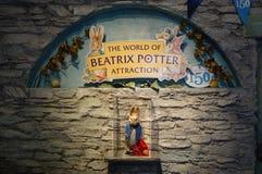Den 150. årsdagen av barns bok Beatrix Potter författare Royaltyfria Bilder