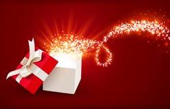 Den öppna gåvan boxas stock illustrationer