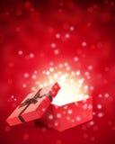 Den öppna gåvan boxas Arkivbild
