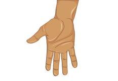 Den öppna gesten gömma i handflatan Handen ger sig eller mottar också vektor för coreldrawillustration Arkivfoton