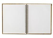 den öppnade anteckningsboken återanvänder royaltyfria bilder