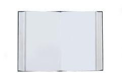 den öppnade blanka boken pages white Arkivfoto