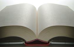 den öppnade boken pages white Arkivfoto