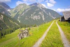 In den österreichischen Alpen Stockfotografie